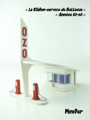 Bellevue Service Station 50er-60er Jahre (HO)