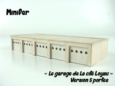 Le garage de la cité Loyau - version 5 portes (HO)